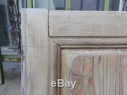 Lot de 2 jolies portes anciennes en pitchpin 19ème, idéal décoration Tête de Lit