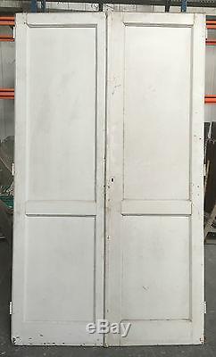 Lot de 3 doubles portes de placard /Porte ancienne / Placard ancien /