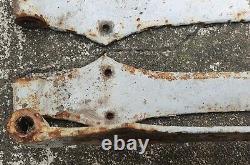 Lot de 3 paires d'anciennes pentures en fer forgé pour volets portes etc
