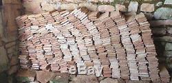 Lot de 450 briques de cheminée d'époque 17/18e 20x10x2,5cm environ