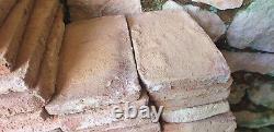 Lot de 450 briques de cheminée d'époque 17/18e siècle 20x10x2,5cm