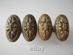 Lot de 4 Anciennes Poignées de Fenetre ou Porte RIV Bronze, Bouton, Handle Door