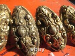 Lot de 6 Anciennes Poignées de Fenetre ou Porte