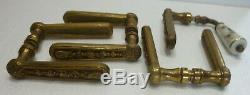 Lot de poignées de porte bronze XIXème siècle rare qualité