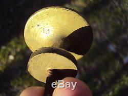 Lot de six poignées gros boutons de meuble en bronze 19 ème