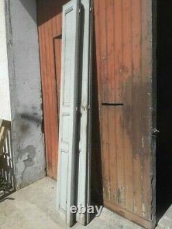Lot volets / portes / 4 elements bois massif patiné ep 1930 250cm