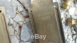 Lots de plaques de propreté en bronze doré pour portes