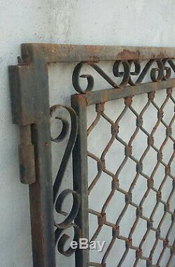 Magnifique portail en fer forgé XIXe