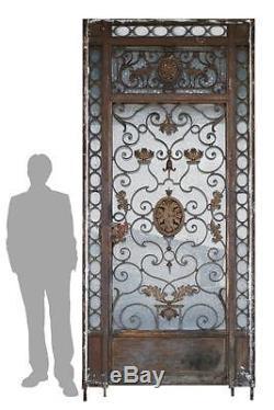 Magnifique porte et contre-porte en fer forgé d'époque 1900