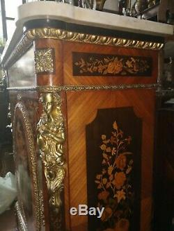Meuble Boulle, époque Napoléon III, en marqueterie de bois exotiques