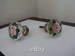 Millefiori Boutons de porte Cristallerie de Clichy 1850/1855 Rare