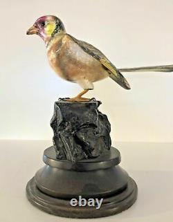 Oiseau en argent et émail fait main par Francesco Rigozzi