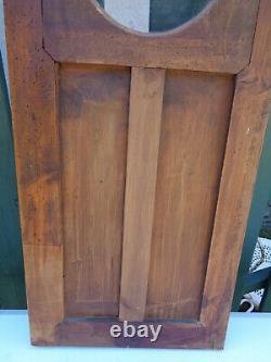 PORTE ANCIENNE DÉCO EN BOIS noyer vitre pendule niche placard