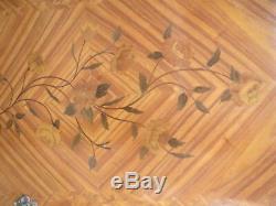 PORTE GALBE ANCIENNE EN MARQUETERIE VERNIS- DESIGN 1950/60 louis15 fleurs