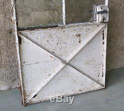 PORTE d'ATELIER, ancienne porte d'atelier en métal, verrière, indus, loft, N°1