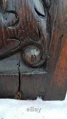 Paire De Panneaux En Chêne Sculpté De La Fin Du 16ème, Début Du 17ème, Renaissan