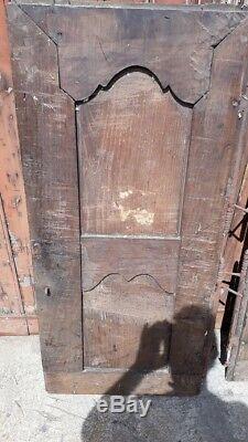 Paire De Portes Datees 1820 Chene Massif