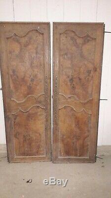 Paire De Portes En Loup D'orme Pair Of Doors In Burr Elm