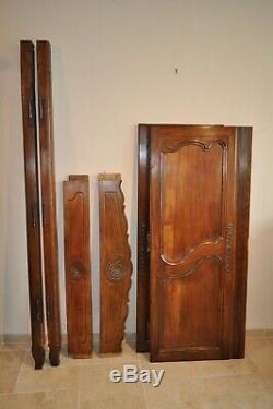 Paire De Portes d'Armoire Louis XV En Merisier époque 19ème Façade d'Armoire Anc