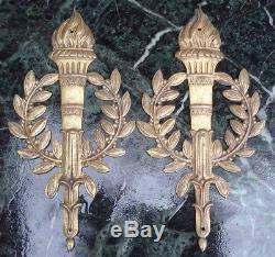 Paire d'Ornements en Bronze doré style Empire