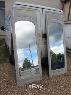 Paire d'anciennes portes avec miroir, époque XIX°