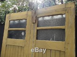 Paire d'anciennes portes pour atelier, autre. CHENE