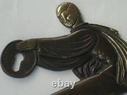 Paire d'ornements ou d'entrées de serrure en laiton arto déco 1920/1940