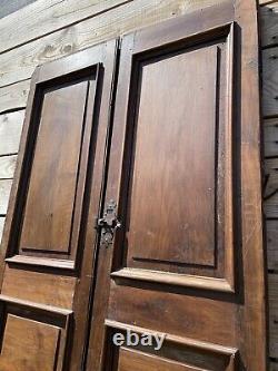 Paire de Double Porte Époque XVIIIeme Ancienne Château Maison de Maître 270x110