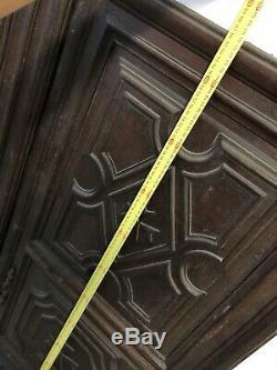 Paire de Porte Placard Louis XIV Croix de Malte XVIIIeme Ancien Armoire Serrure