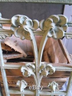 Paire de grilles en fonte art nouveau décor floral fonderie st dizier