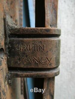 Paire de grilles fer forgé séparation ART DÉCO signées JANIN NANCY Era Brandt