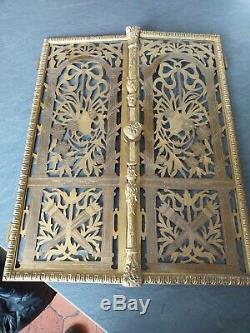 Paire de porte en Bronze Doré D'ameublement ancien baroque
