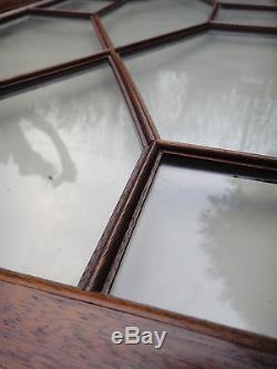 Paire de porte en acajou, pour vitrine, bibliothèque, placard, 110 X 94 cm
