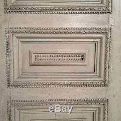 Paire de portes à encadrements double face bois naturel sapin massif XIX siècle