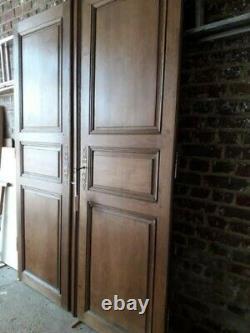 Paire de portes d'armoire anciennes + ou 120 ans