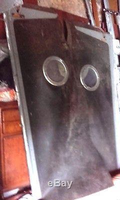 Paire de portes d atelier en caoutchouc avec hublot déco loft