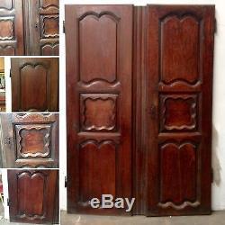 Paire de portes en chêne massif / Portes d'armoire / Porte de placard