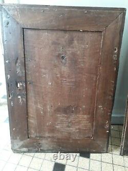 Paire de portes en noyer XVIIe 17ème siècle