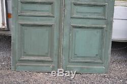 Paire de portes en pitchpin / 144 cms de façade x 2m58 de haut