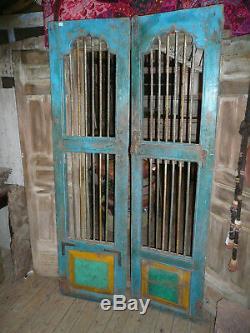 Paire portes indiennes à barreaux N°1