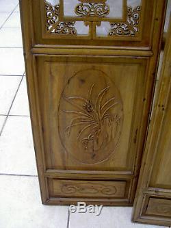 Panneaux anciens asiatiques en bois