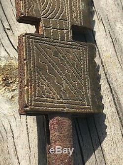 Passe partout 5 anciennes clefs chinoises en bronze gravées Antique keys