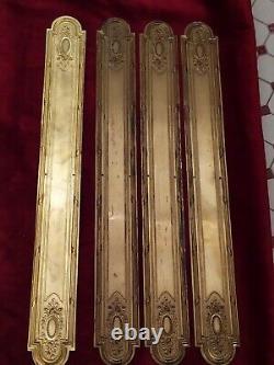 Plaques de Propreté en Laiton Doré pour porte Anciennne Série de 4