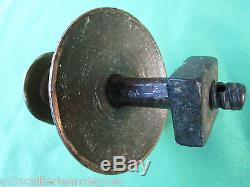 Poignée 7 cm rosace 11 cm ronde bronze Empire Directoire porte entrée ancien