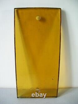 Poignée de porte de magasin pâte de verre ambrée orangée années 1970 de 37 cm