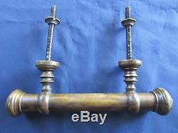 Poignée fixe longue 23 cm bâton de berger laiton ancienne porte d'entrée
