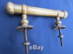 Poignée fixe très longue 26 cm bâton de berger laiton ancienne porte d'entrée
