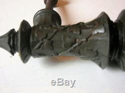 Poignée porte baton marechal bronze art deco nouveau chateau maison maitre N°2