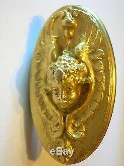 Poignée porte fenetre serrure bronze dore quincaillerie chateau maison ST