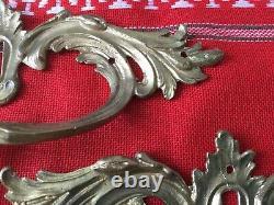 Poignées commode en bronze ciselé L XV le lot de 4 anciennes excellent état